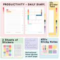 Black Padded - Productivity Organiser P3