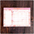 A4 - Yearly Planning Pad - Pink Sand Marble
