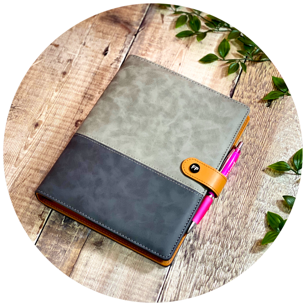Serious Grey Suede - Food Diary Organiser