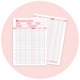 Inserts - Pink Blush Finance Pack
