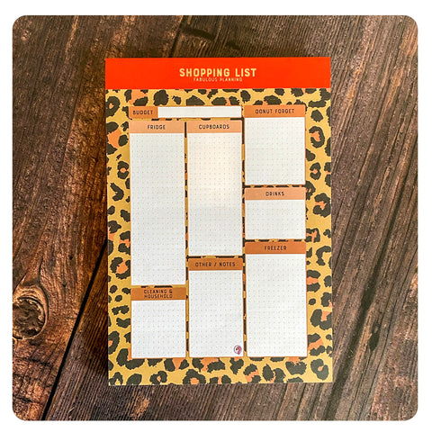 A5 - Shopping List - Exotic Leopard
