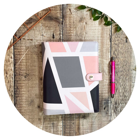 Grey & Pink Geometric - Productivity Organiser