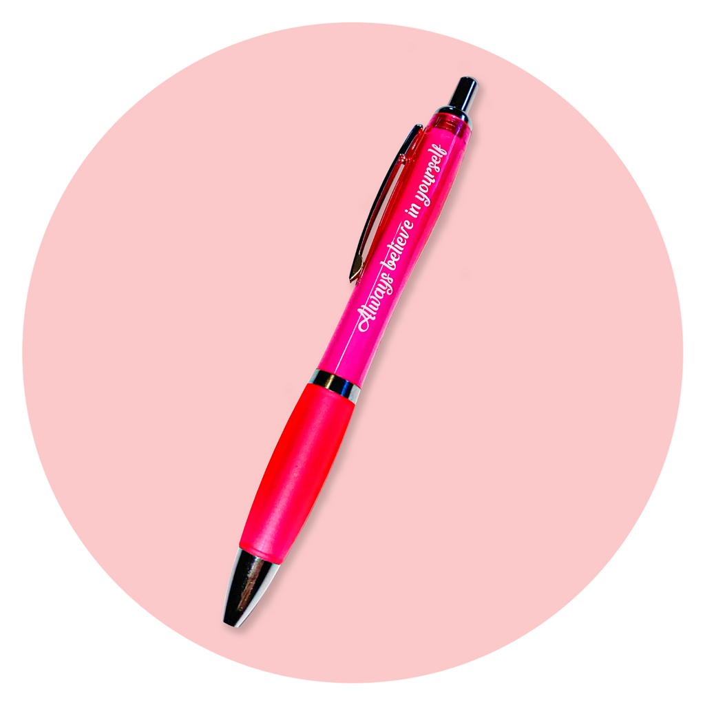 Inspirational Chunky and Funky Pink Pen
