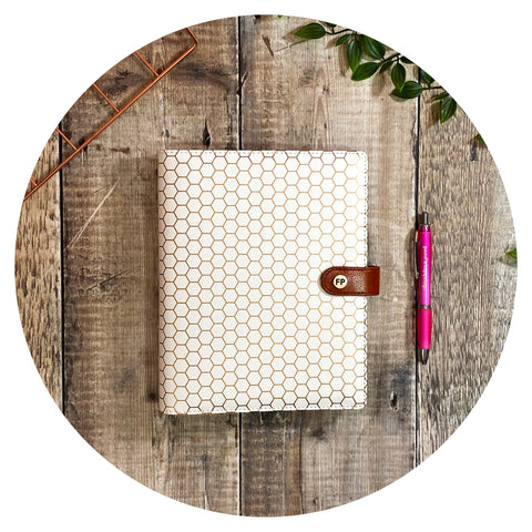 Gold Foil Honeycomb - Productivity Organiser