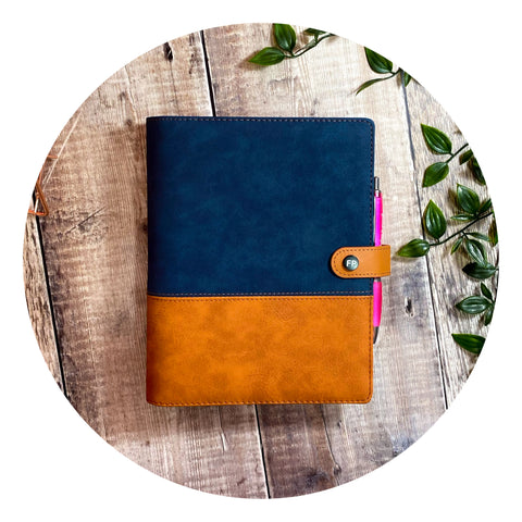 Fabulous Organiser ~ Midnight Blue Suede