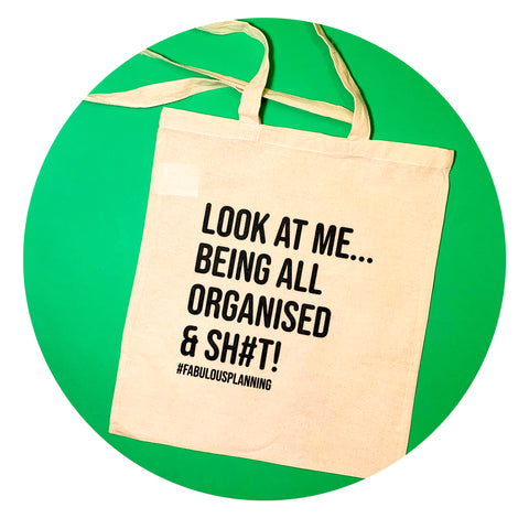 "Savage Tote Bag - ""LOOK AT ME"""