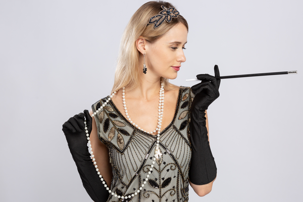 Spooktacular Creations 1920s Retro Timeless Old Hollywood Flapper Gatsby Accessories Set for Women Halloween Dress Up