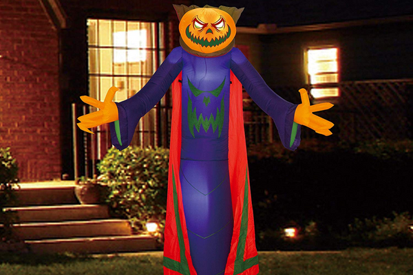 Halloween 8 FT Yard Inflatable Pumpkin Wizard with Build-in LEDs