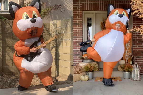 ADULT INFLATABLE COSTUMES - FOX FULL-BODY SUIT