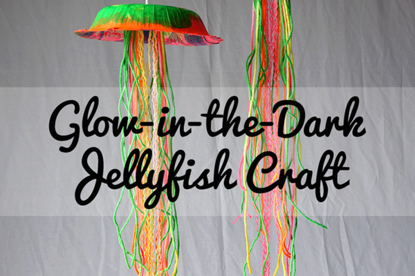DIY glow-in-the-dark jellyfish craft for kids