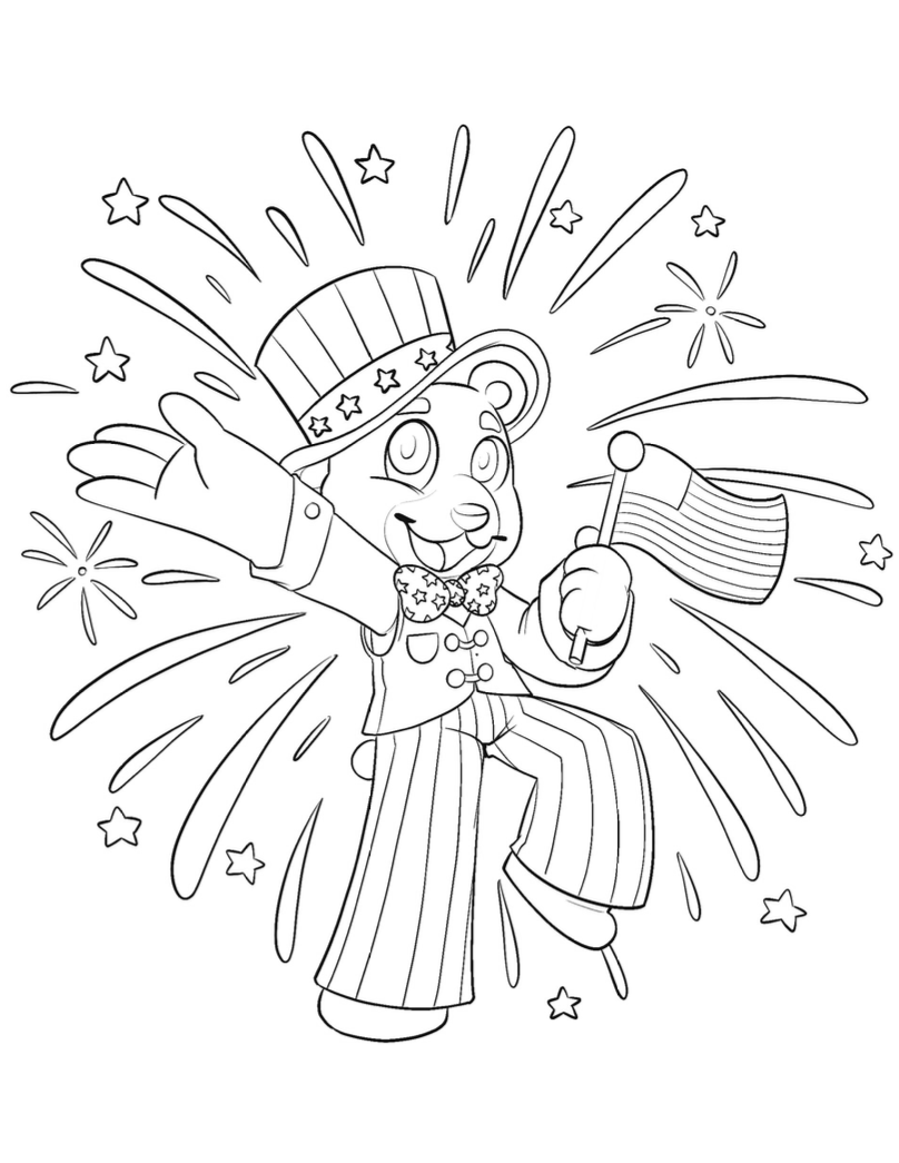 Independence Day free printable coloring sheet from JOYIN