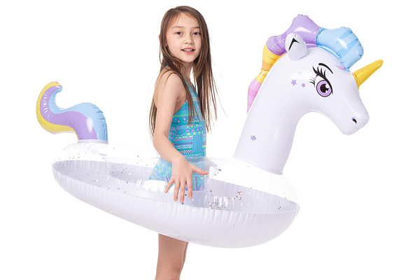 JOYIN Inflatable Unicorn Pool Float with Glitter