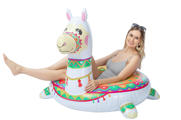 JOYIN Inflatable Llama Pool Float 43.5""