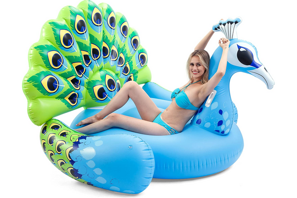 JOYIN GIANT Inflatable Peacock Pool Float