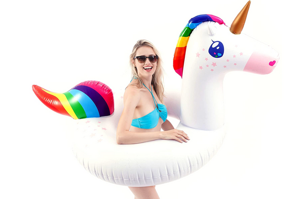 JOYIN Gorgeous Inflatable Unicorn Tube