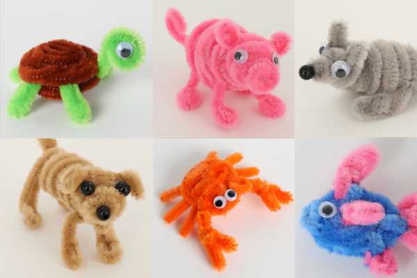 KIDS AT HOME CRAFTS - DIY PIPE CLEANER ANIMALS