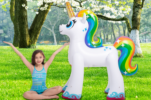 SOCIAL DISTANCE SCHOOLING TIPS & TRICKS | GIANT OUTDOOR UNICORN SPRINKLER