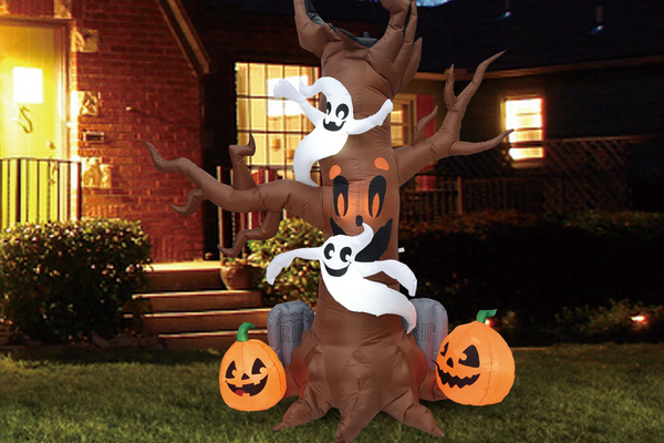 Halloween 8 FT Yard Inflatable Scary Tree with Build-in LEDs