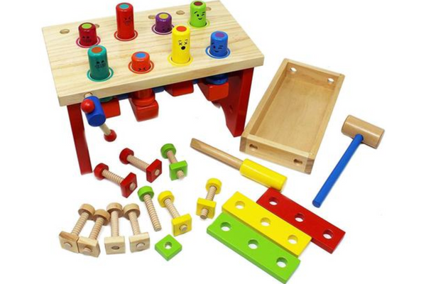 Wooden Tool Bench for Kids Toy Hammer | STEM TOY