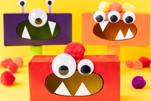 DIY Googly eyed monster tissue-box