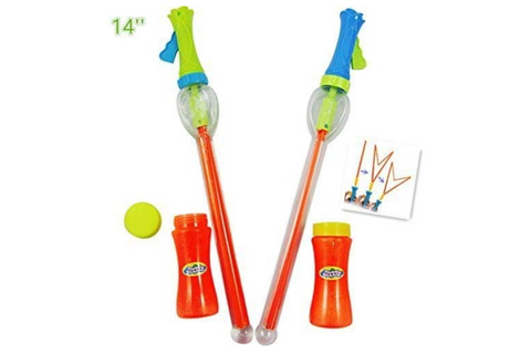 JOYIN 2 Pack Big Bubble Wand Making HUGE Bubbles with Giant Bubble Solution for Summer Toy Party Favor