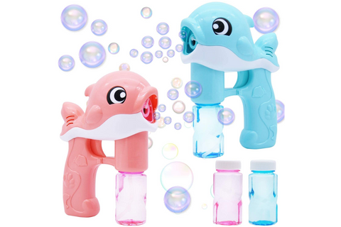 2 pack dolphin bubble guns