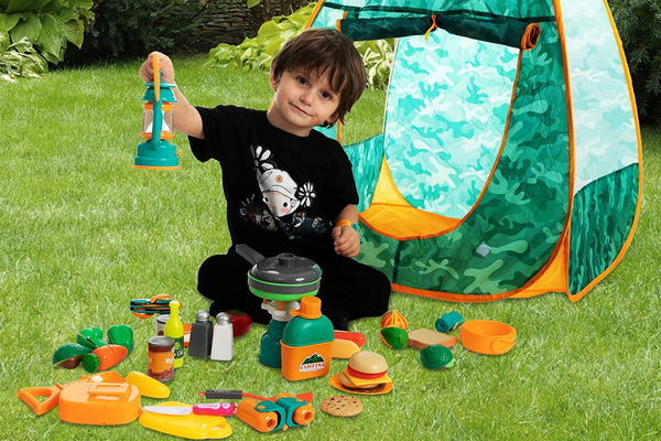 JOYIN Kids Camping Set with Tent and 30+ pcs of Camping Gear