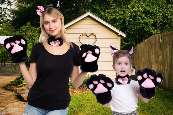 5 pcs Kitten Kitty Cat Costume Accessories Set for Adult and Child