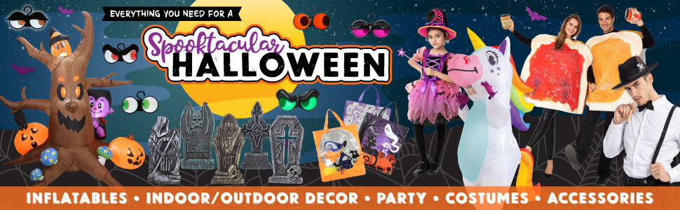 HALLOWEEN COSTUMES, ACCESSORIES, PARTY DECOR & MORE