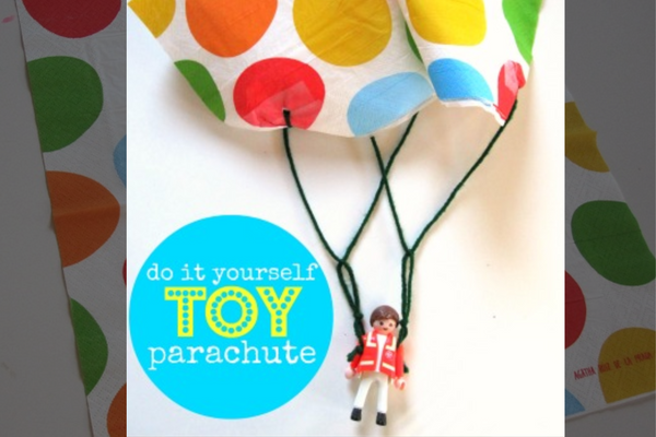 Quarantine crafts for kids - DIY Parachute men toy