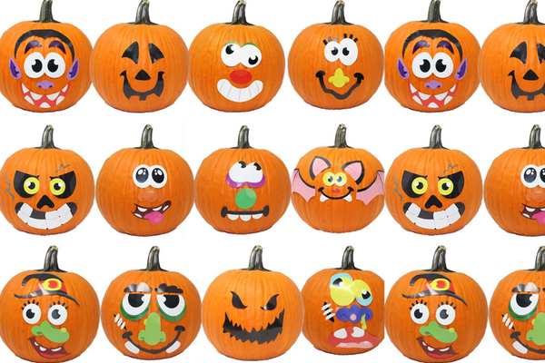 JOYIN 20 Assorted Pieces Pumpkin Decorating Craft Kit Stickers in 12 Designs