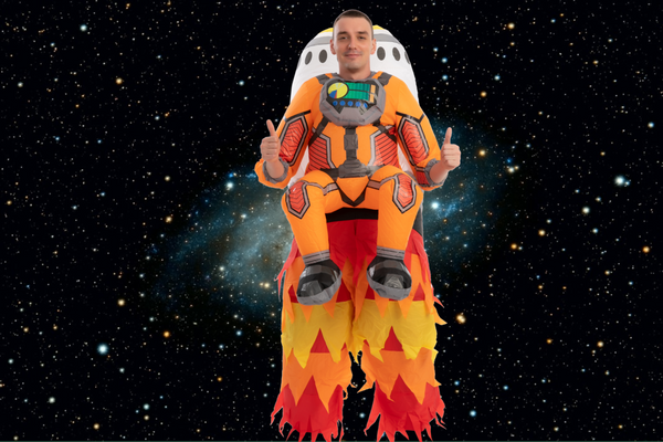 ADULT INFLATABLE COSTUMES - ASTRONAUT ROCKET INFLATABLE