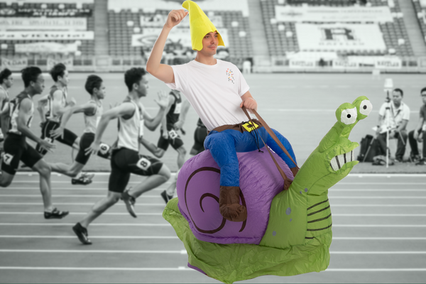 ADULT INFLATABLE RIDE-ON SNAIL COSTUME
