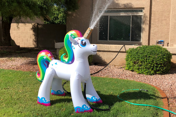 Giant Unicorn Outdoor Water Sprinkler Toy for Kids