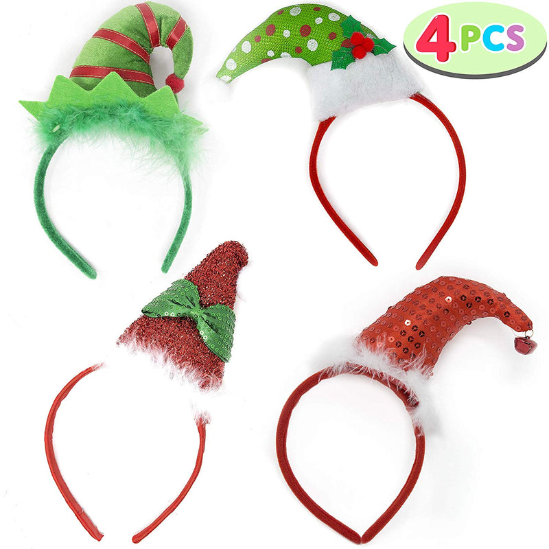 CHRISTMAS HEADBANDS WITH 3D HAT DESIGNS