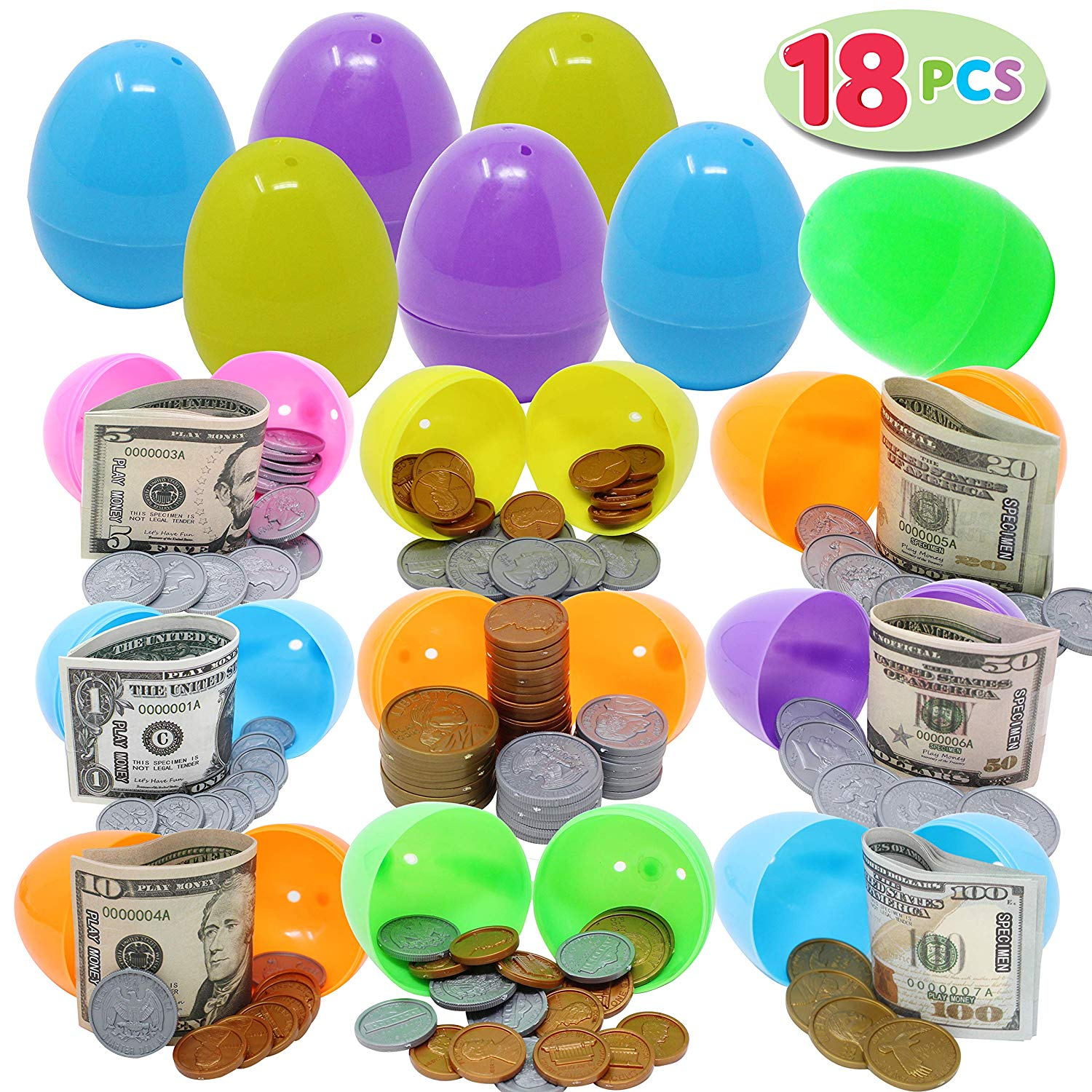 Easter Eggs with Pretend Money