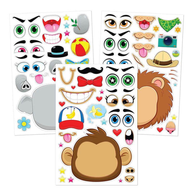 Make-A-Face Sticker Sheets