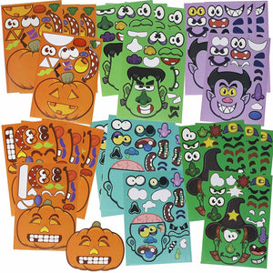 Halloween Mix and Match Stickers 24-Piece Set
