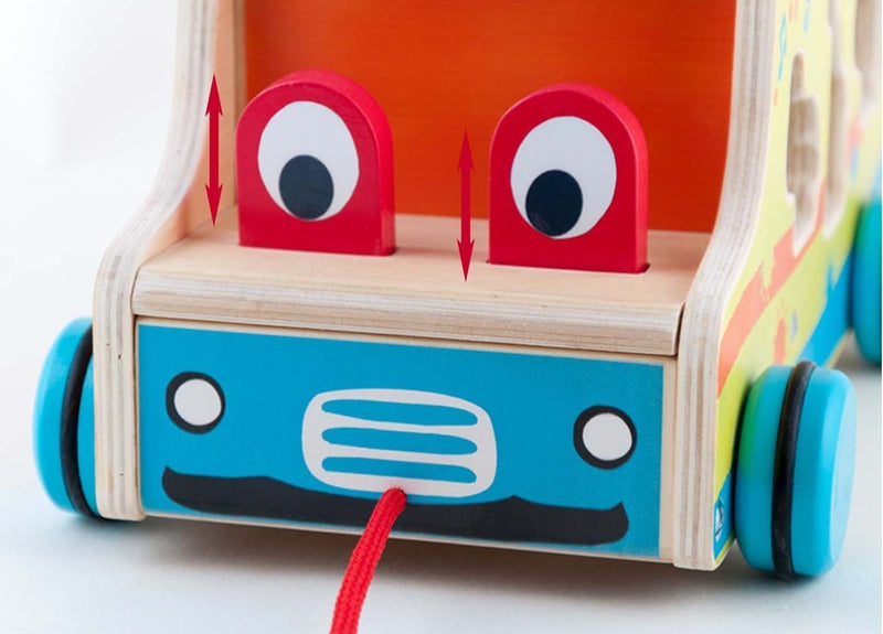 Wooden Push-n-pull Truck with Xylophone