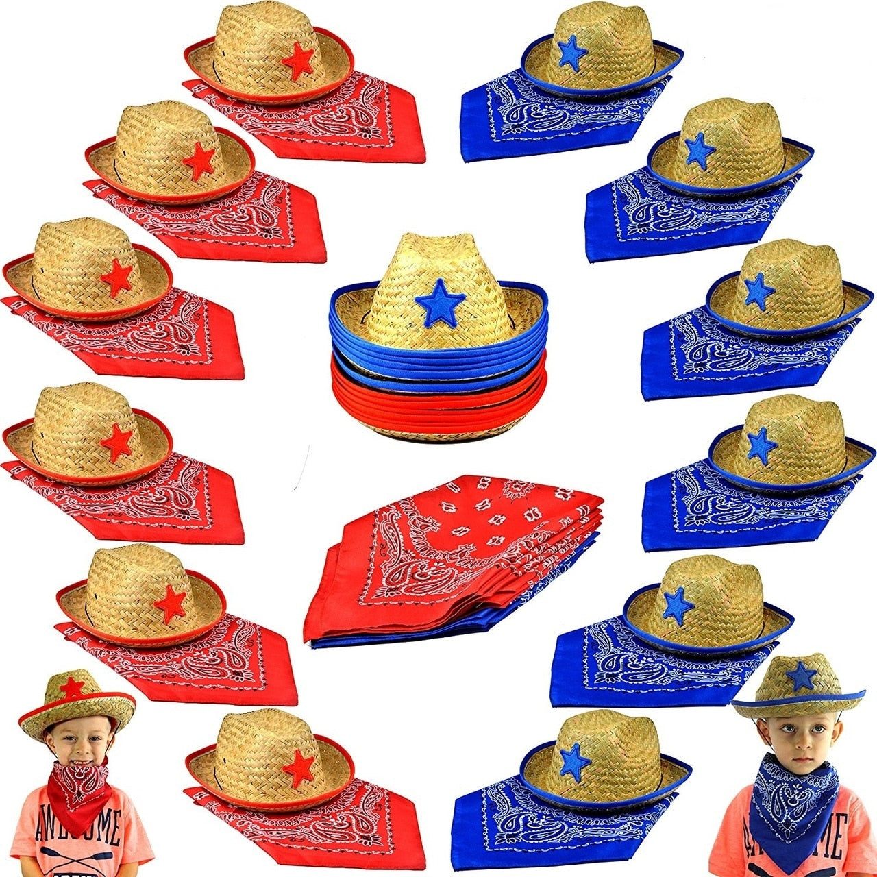 Cowboy Party Pack for 12 People