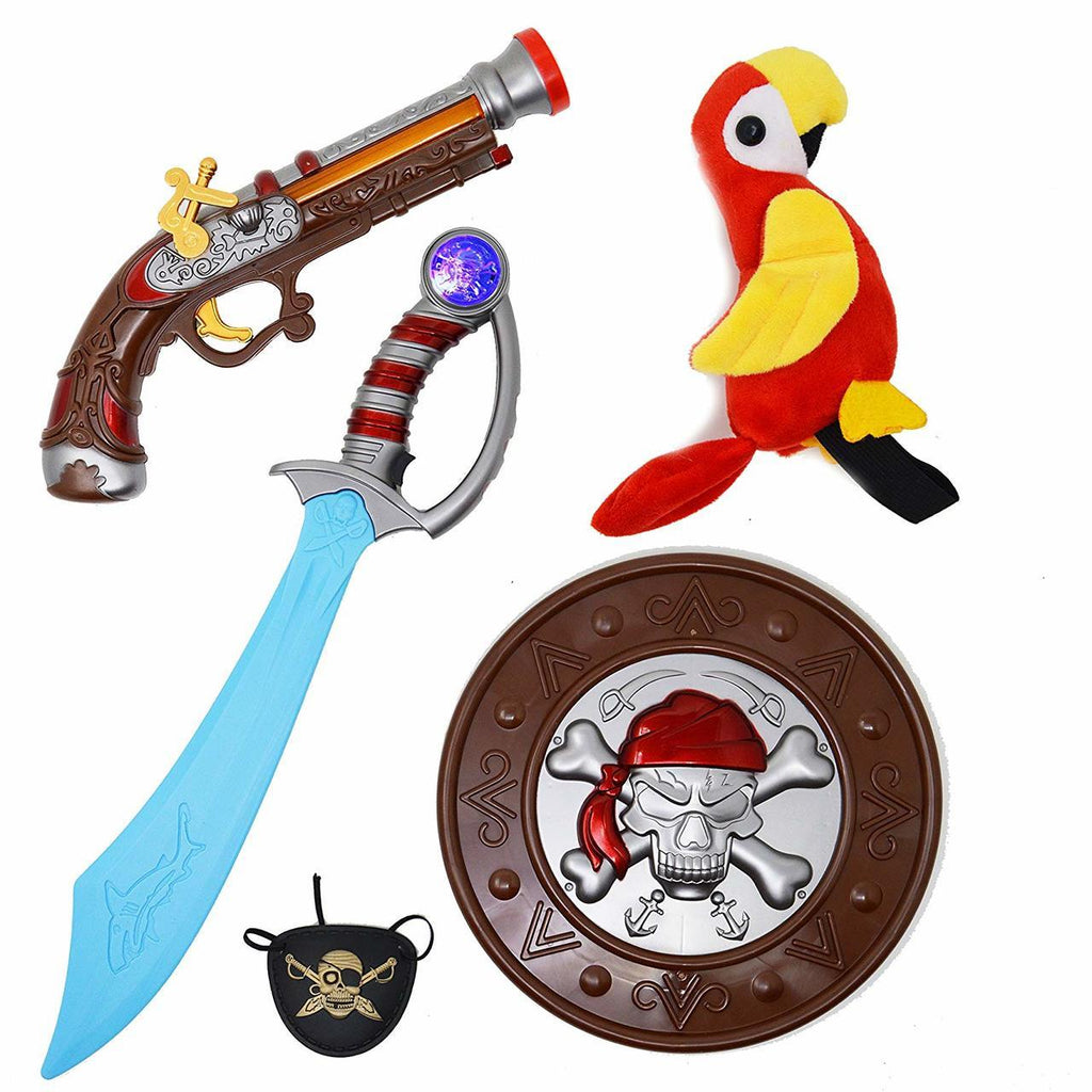 Pirate Accessories and Toys, 5-Piece Set