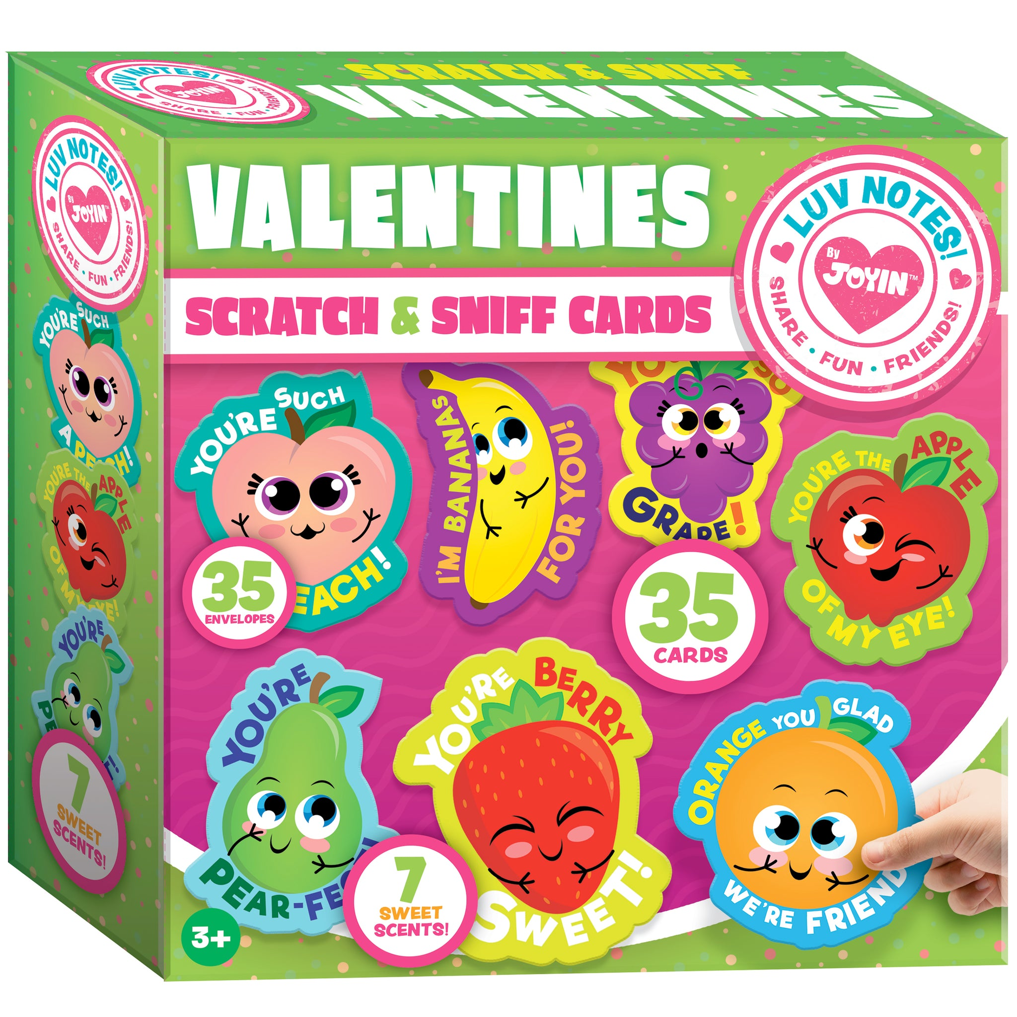 35 Pieces Valentines Day Gifts Cards for Kids with Scratch and Sniff Cards