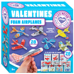 Valentines Day Gifts Cards for Kids with Foam Airplanes 28 Pack