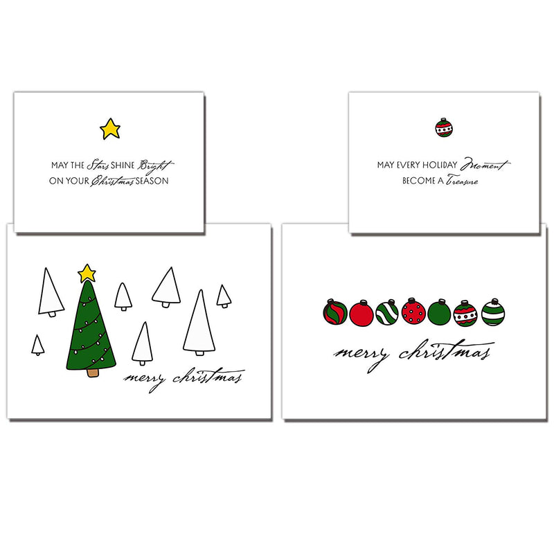 72 Piece Christmas Holiday Greeting Cards