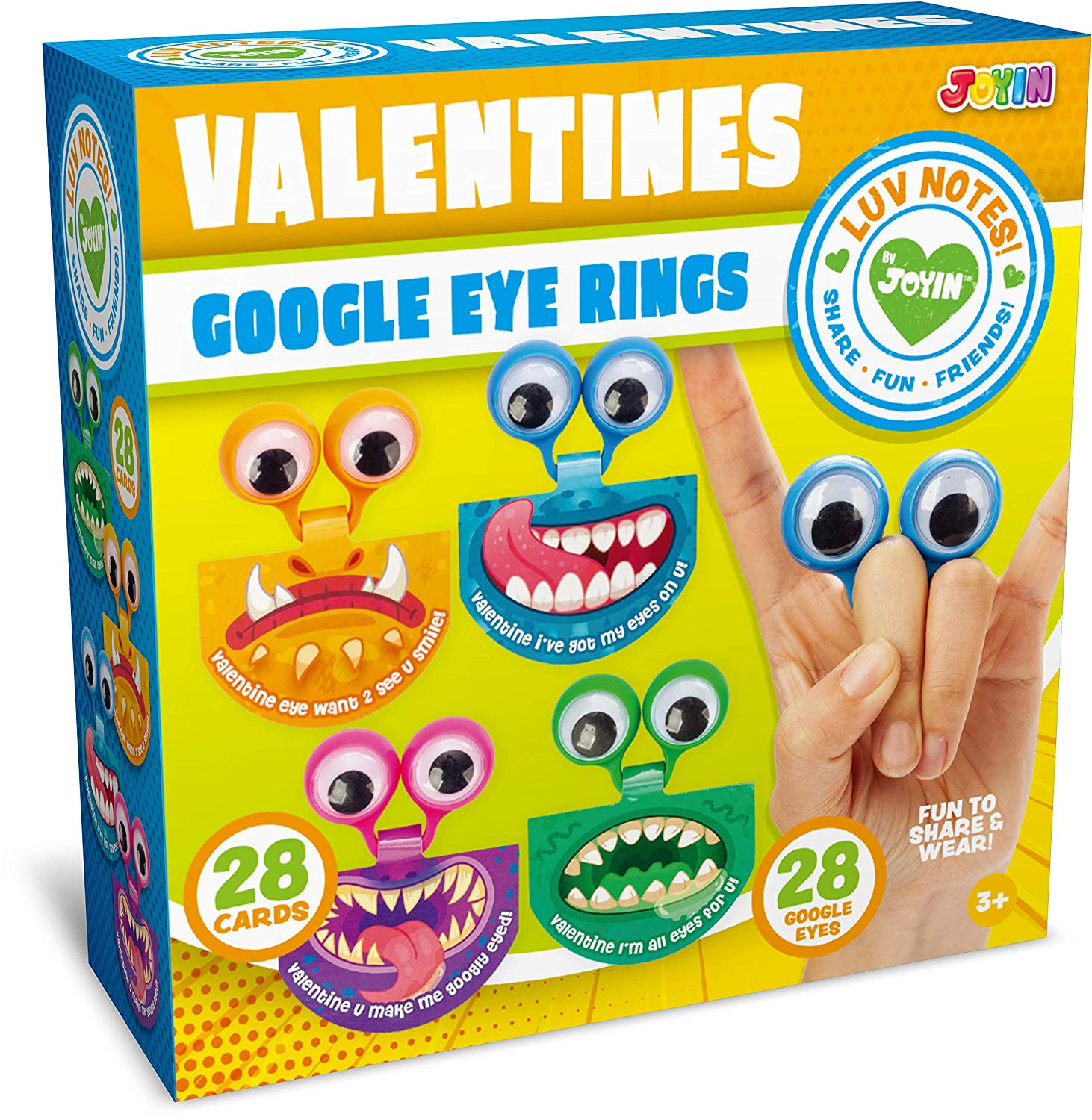 Valentine Cards with Googly Eyes Toy