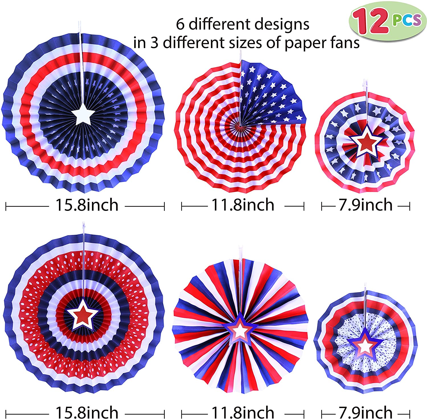 21 Pcs Patriotic Party Supplies