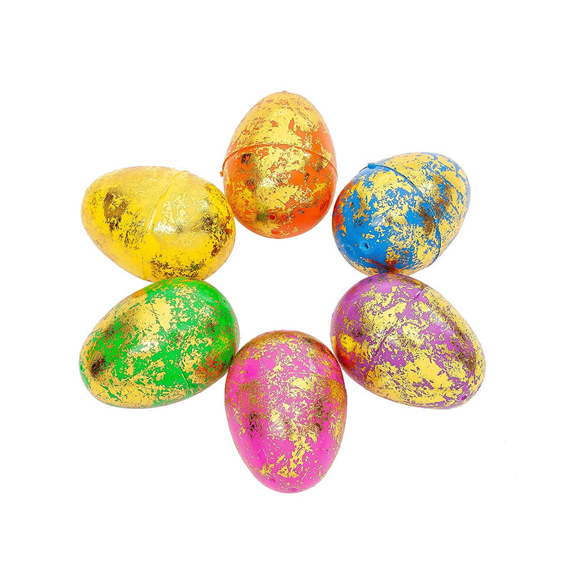72 Pcs Easter Egg Shell- Scattered Gold (6.2 cm)