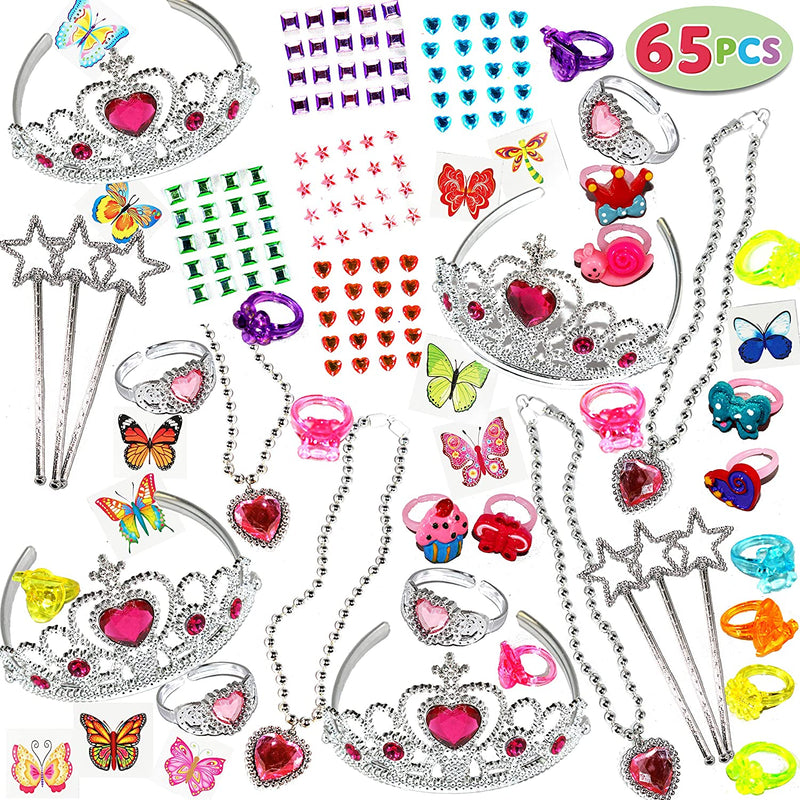 65 PIECES GIRLS PRINCESS JEWELRY TOY PLAYSET