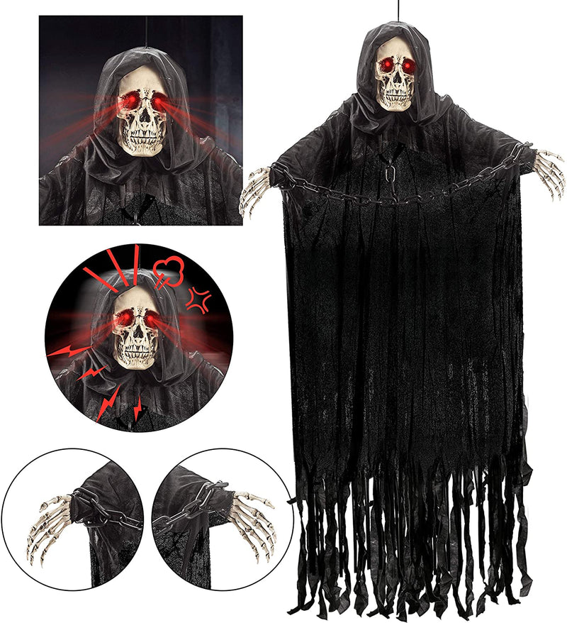 "60"" Hanging Grim Reaper with Chain"