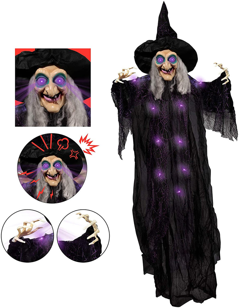 "72"" Animated Hanging Witch"
